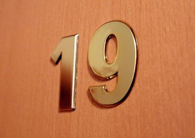 Nummerierte Zimmertür