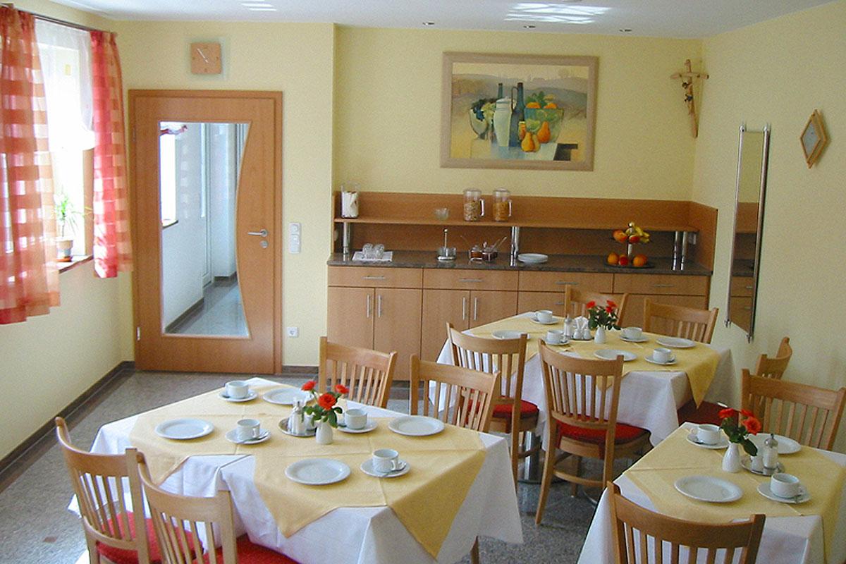 Unser gemütlicher Frühstücksraum im Bergmoarhof